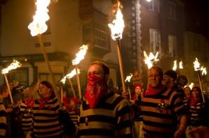 Lewes Bonfire Night procession 2014